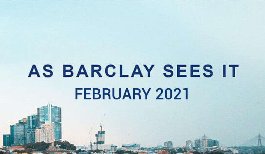 As Barclay Sees It - February 2021