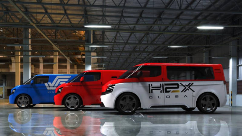 H2X FCEV VanMPV range scheduled for release 2023. Pic- Supplied