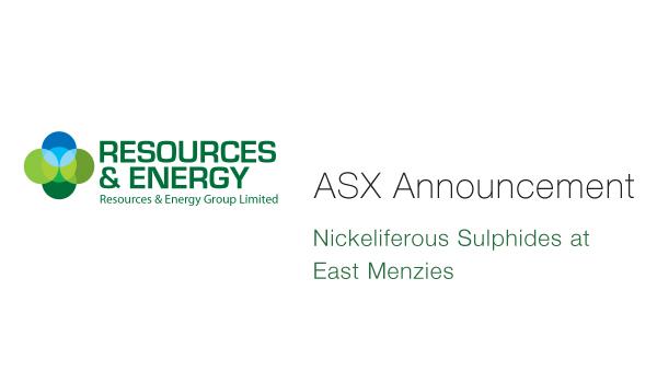Resources & Energy (ASX:REZ) - Nickeliferous Sulphides at East Menzies