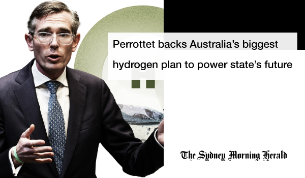 Australia's biggest hydrogen plan to power NSW future backed by Perrottet - SMH
