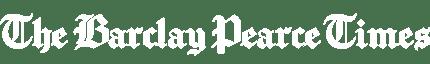 The Barclay Pearce Times logo white