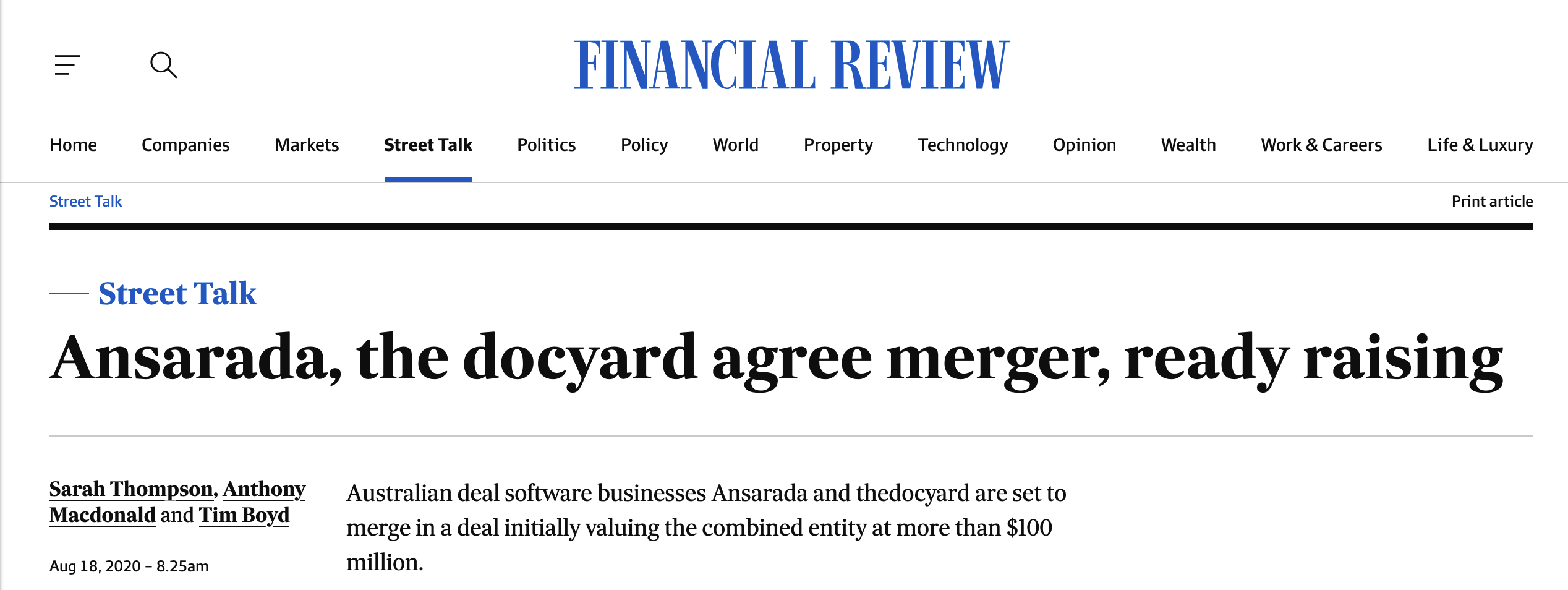 afr_ansarada_the_docyard_agree_merger_ready_raising_barclay_pearce_capital