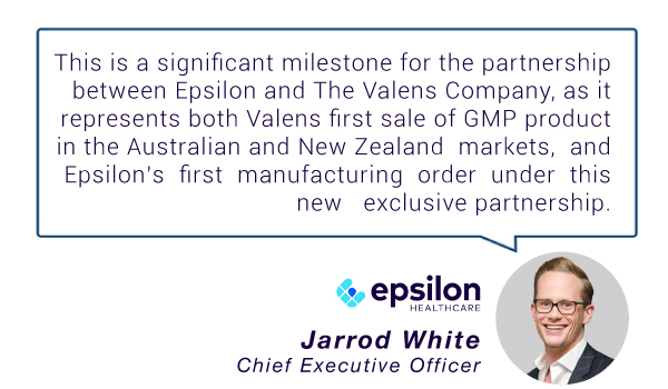 Epsilon Healthcare (ASX:EPN) - First Order Under Strategic Partnership with The Valens Company