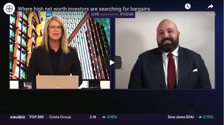 Where are high net worth investors searching for bargains? - Live on ausbiz