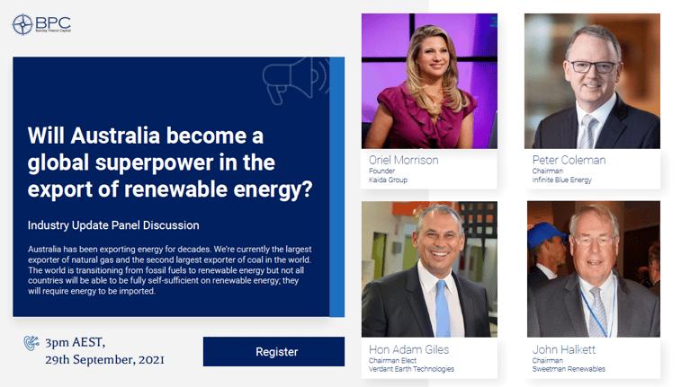 Australian Renewable Energy Webinar